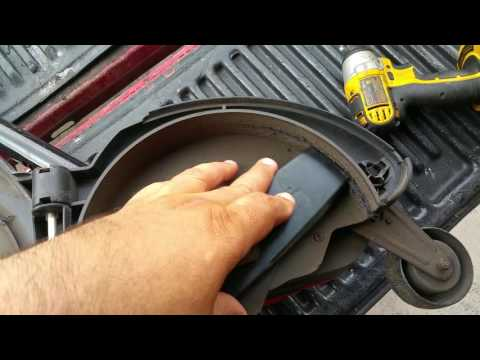 Black & decker le750 electric edger with 9 inch blade modification