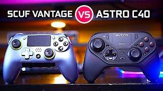 Astro C40 TR vs Scuff Vantage - Ultimate PS4 Controller Battle!