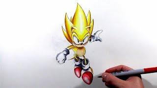Drawing Super Sonic Classic - Sonic Mania