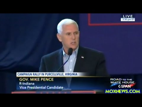Donald Trump Vice Presidential Pick Mike Pence Holds Rally In Purcellville Virginia