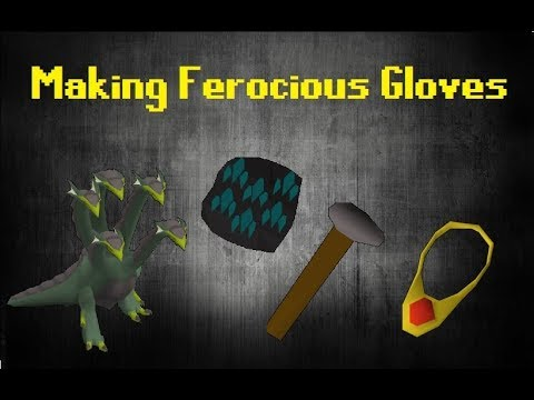 How to Make Ferocious Gloves OSRS