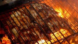 Рецепт вкусной и сочной Курицы на мангале. Как приготовить цыпленка табака на дровах.