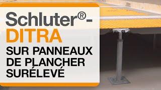 Comment installer la membrane Schluter®-DITRA sur panneaux de plancher surélevé.