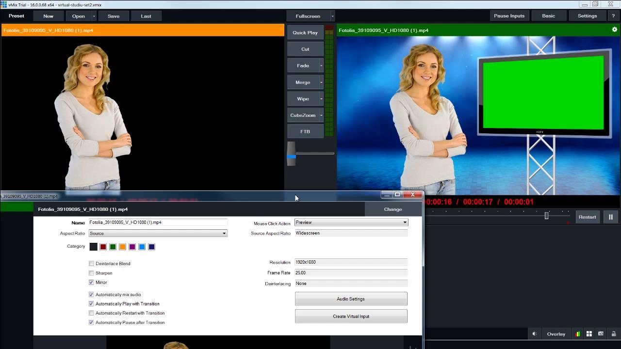 vmix chroma key video tutorial youtube