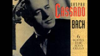 J.S. Bach · Cello Suite No 5 in C Minor: Sarabande (Gaspar Cassado)
