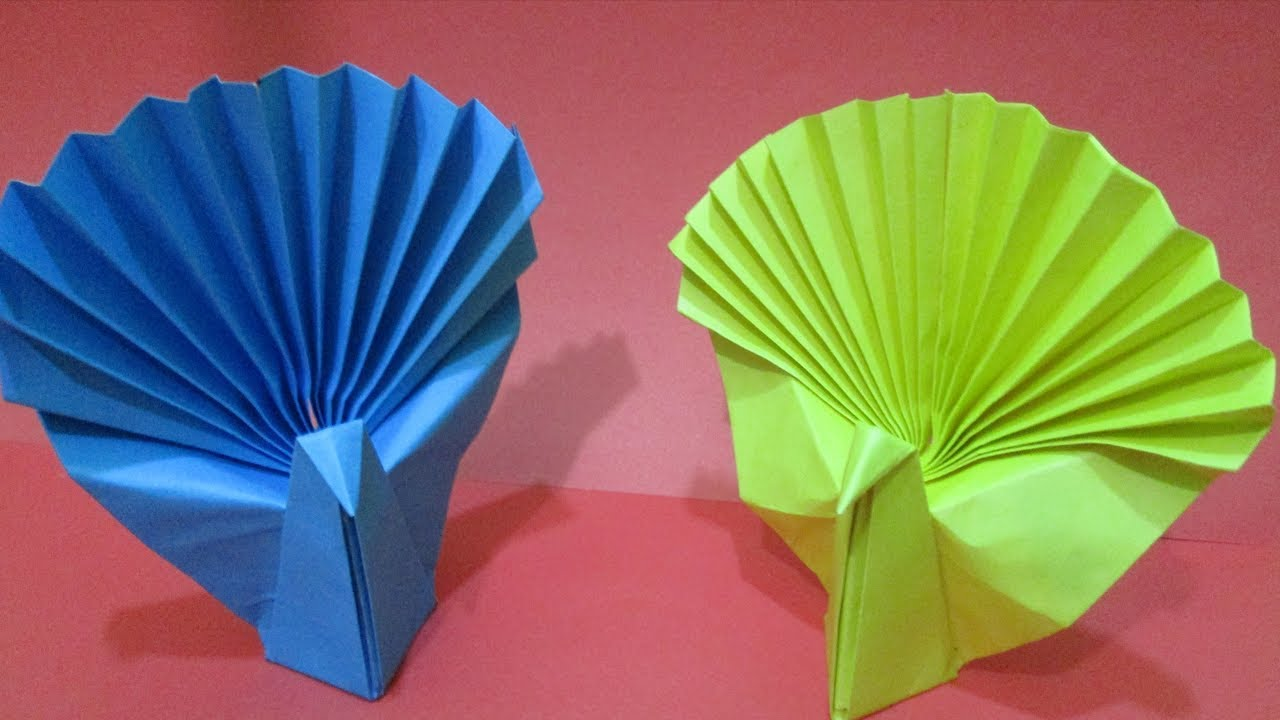 how to make an easy origami peacock how to make paper