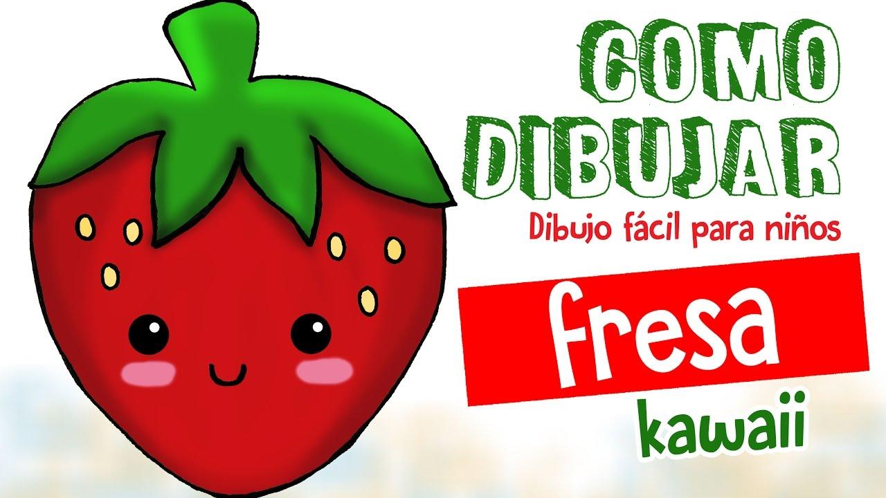Como dibujar fresa kawaii dibujo facil para ni os for Comedor facil de dibujar