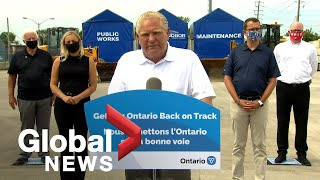 Coronavirus: Ontario Premier Ford open to changes on mask-wearing for children if recommended | FULL