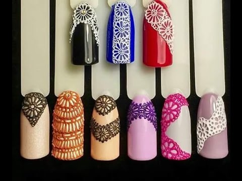 Nail art tutorial 3d lace effect english youtube prinsesfo Choice Image