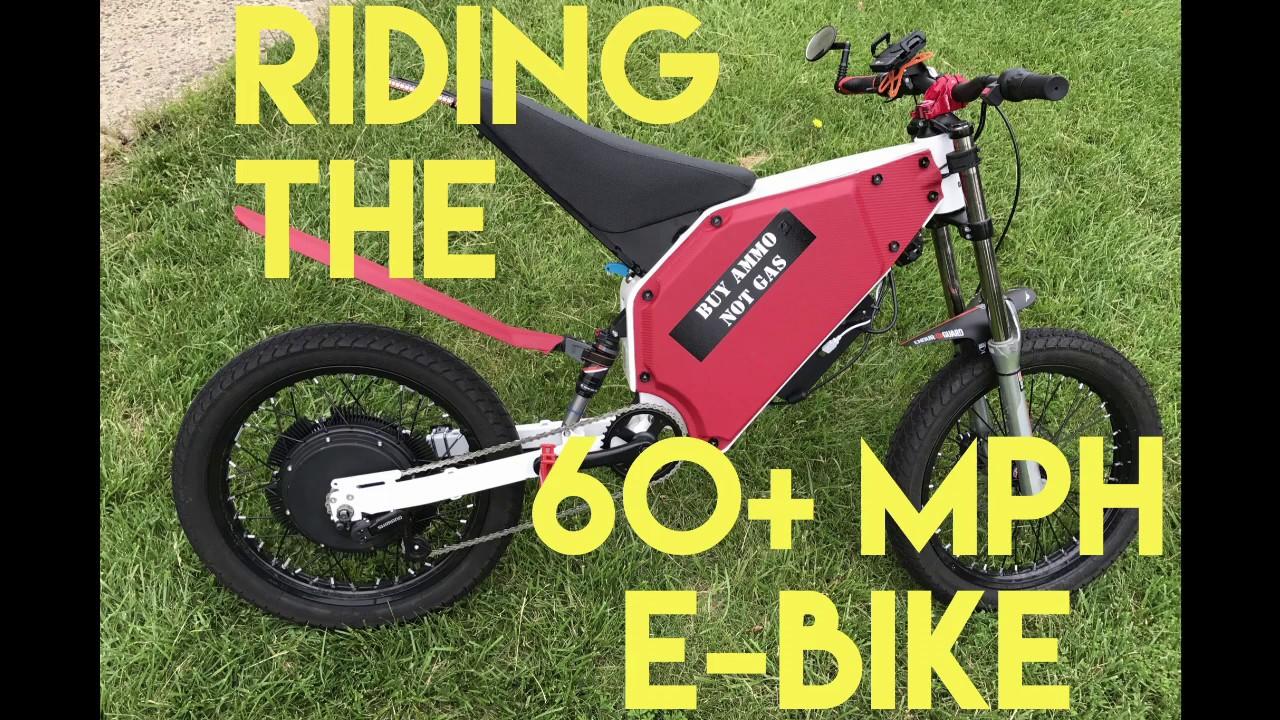 Commute on 60+ MPH E-Bike