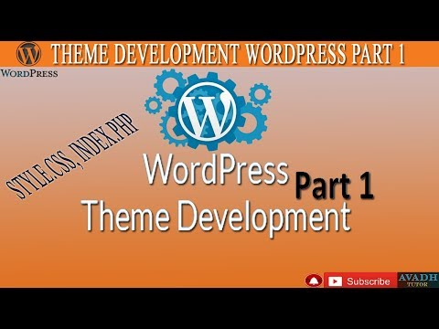theme development in wordpress part1 || theme development tutorial in wordpress || avadh tutor thumbnail