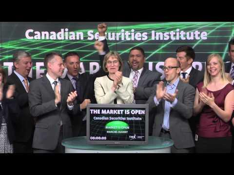 Canadian Securities Institute opens Toronto Stock Exchange, June 6, 2014.