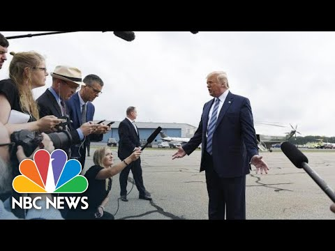 Trump Defends Sharing Conspiracy Theory Linking Epstein And Bill Clinton | NBC News