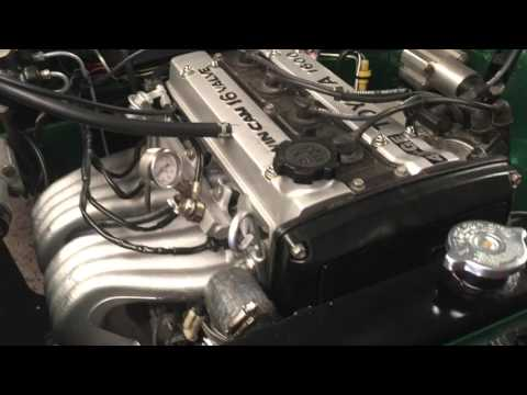1960 morris minor 1000 its 4age Toyota Corolla twin cam motor running