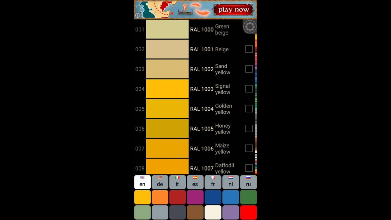 RAL Colors Simple Catalog - Android color chart app - YouTube - ral color chart
