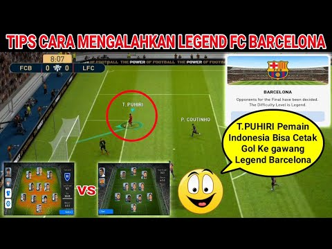 White Ball Vs Full Squad Fc Barcelona Legend dan Tips Cara Mengalahkannya.!! | Pes 2019 Mobile