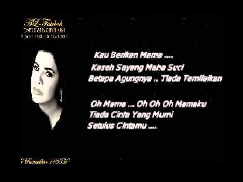 Sharifah Aini...  Mawar Putih Buat Mama.(Lirik).