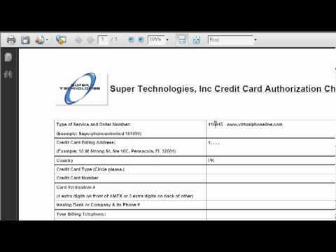 How To Fill Credit Card Authorization Form - Youtube