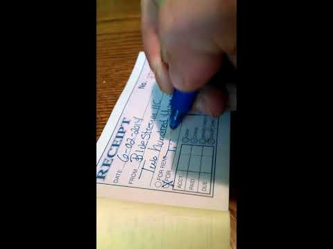 How To Fill Out Receipts For Customers By Hand