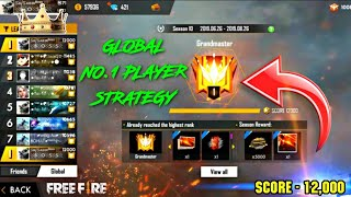 PLAYING WITH NO-1 GLOBAL PLAYER SK SABIR || 12000+ SCORE INCREDIBLE STRATEGY || FREE FIRE
