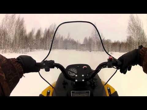 снегоход тикси 250 по лесу