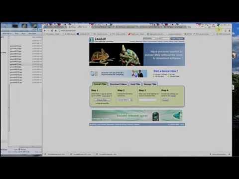 Free online file conversion website - Zamzar - lots of file formats