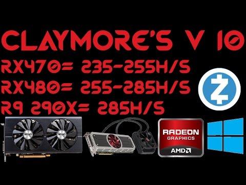 Claymore's ZCash AMD GPU Miner V10.0 For Windows RX470 RX480 R9-295X2