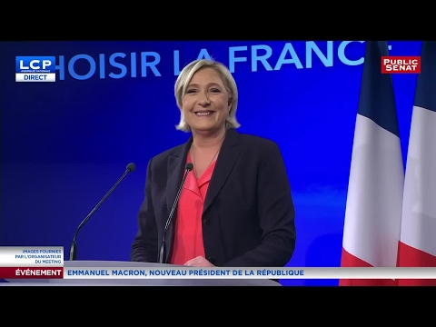 REPLAY. Discours de Marine Le Pen après les résultats du 2nd tour