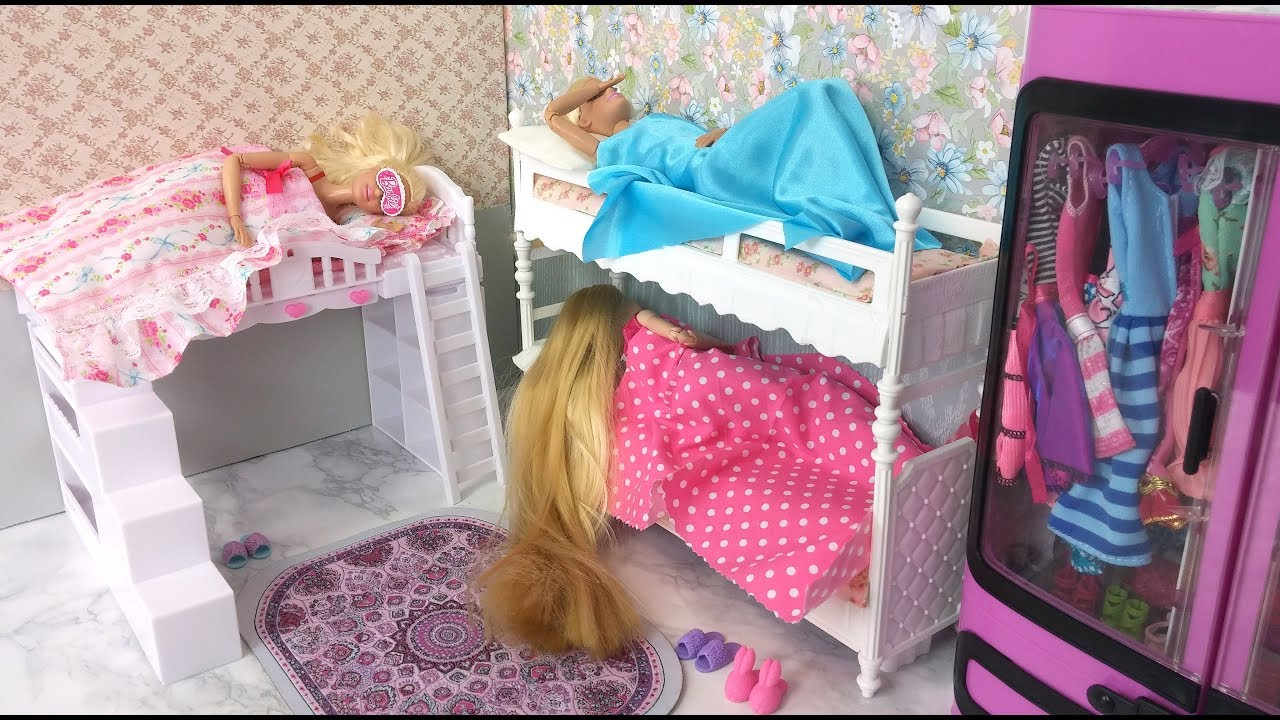 Barbie Amp Her Friends Morning Routine Bunk Bed Bedroom