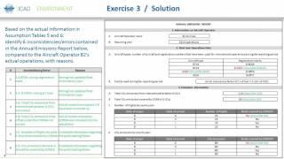 Online CORSIA Tutorial - Exercise 3 Development of CORSIA CO2 Emissions Report