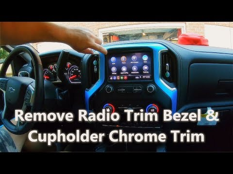 How To Remove Radio Bezel And Cup Holder Trim 2019 Silverado