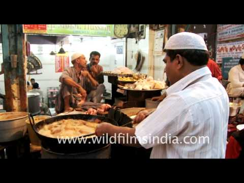 Chandni Chowk street food during Ramzan or ramadan