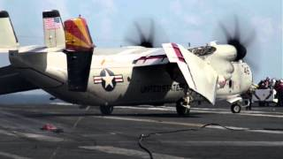E-2 Hawkeye and C-2 Greyhound FCLPs at Wallops Island
