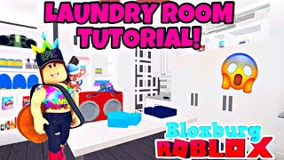 EPIC LAUNDRY ROOM TUTORIAL! TWO ROOMS! :O ROBLOX | BLOXBURG | SPEED BUILD
