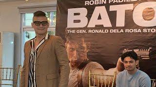 BATO THE MOVIE. Robin Padilla with the cast and producer of Bato the Gen. Ronald dela Rosa story