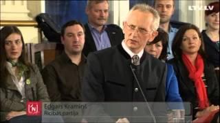 """Rīgas mēra kandidāts Edgars Kramiņš LTV diskusijā """"Izvēlies nākotni!""""."""