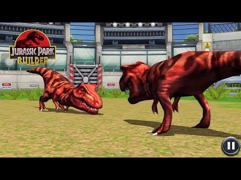 TYRANNOSAURUS vs. TYRANNOSAURUS at STAGE 30: Jurassic Park Builder - IOS Gameplay #19