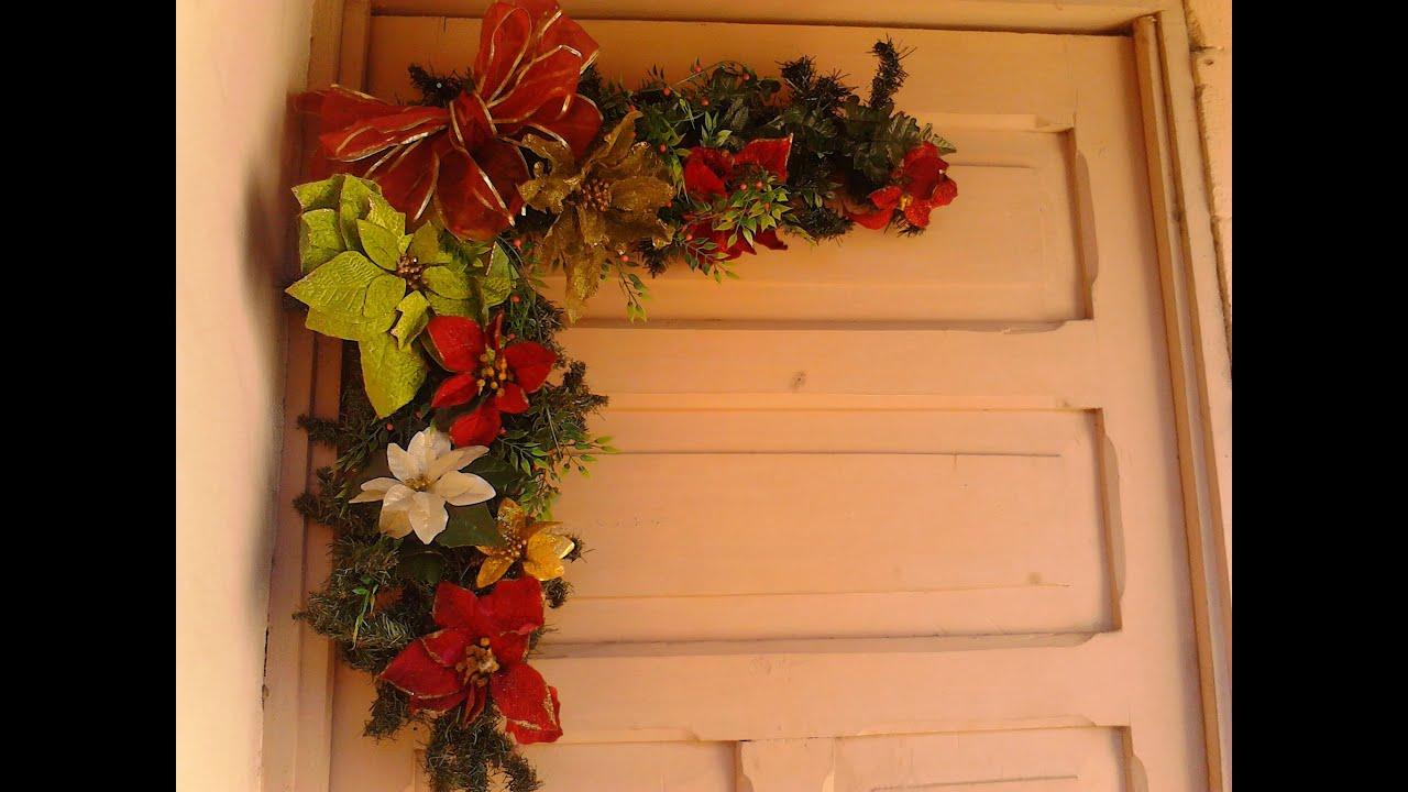 Como hacer un arreglo navide o de puerta youtube - Crear christmas de navidad ...