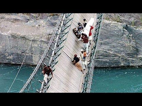 10 MOST TERRIBLE BRIDGES IN THE WORLD | TOP DANGEROUS BRIDGE IN HISTORY || ODVUT
