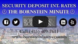 Security Deposit Interest Rates 2014-15 - The Bornstein Minute