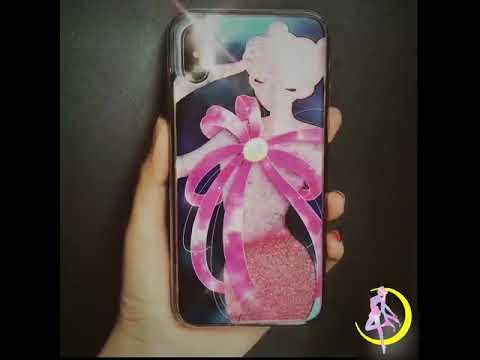 buy popular 69087 37dd3 Sailor Moon Transformation Quicksand Liquid Glitter Phone Case