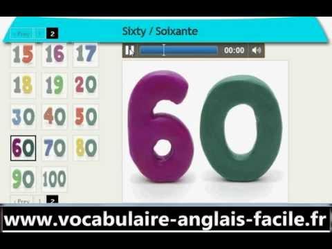 vocabulaire anglais les nombres et les chiffres vocabulaire anglais facile youtube. Black Bedroom Furniture Sets. Home Design Ideas