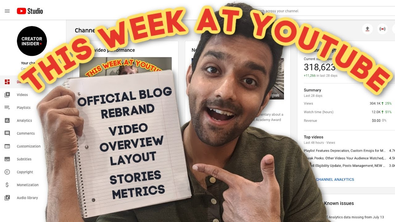 New Analytics Video Overview Layout, Stories Analytics Updates, and YT Official Blog Rebrand!
