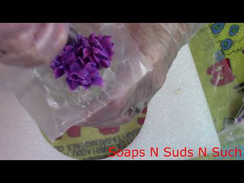 Piping white roses, How to pipe soap flowers, Piping blue hydrangea flowers with soap, Quick version