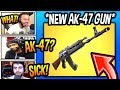 """STREAMERS REACT TO *NEW* """"AK-47"""" HEAVY ASSAULT RIFLE! *LEGENDARY* Fortnite FUNNY Moments"""
