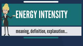 What is ENERGY INTENSITY? What does ENERGY INTENSITY mean? ENERGY INTENSITY meaning & explanation