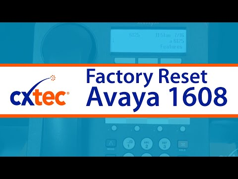 How to Factory Reset an Avaya 1608 IP Phone - CXtec tec Tips