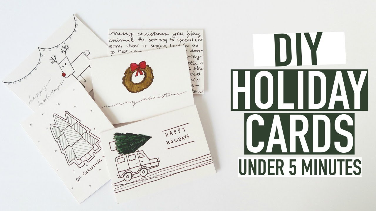 5 Diy Holiday Cards Easy Under 5 Minutes