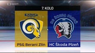 PSG Berani Zlín - HC Škoda Plzeň | 3:5 | Sestřih zápasu