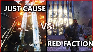 Just Cause 4 VS Red Faction Guerrilla - Destruction & Physics Comparison